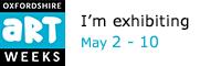 I'm exhibiting in Artweeks - badge
