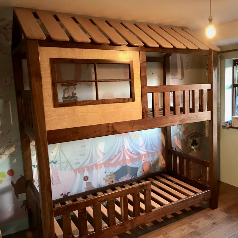 Walnut and Maple Bunk Beds