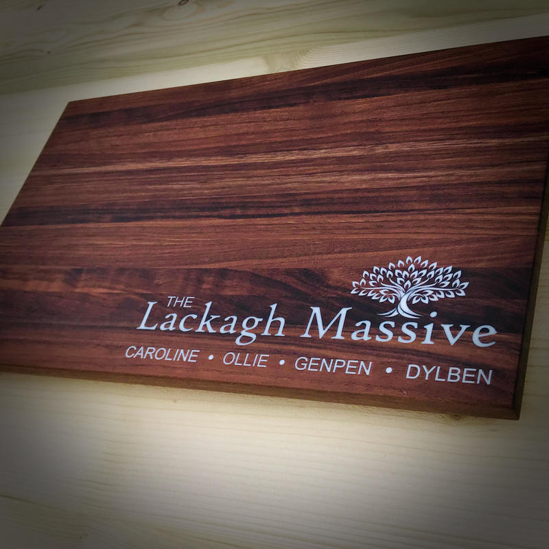 Personalised Walnut and Resin Chopping Board 377 x 23mm