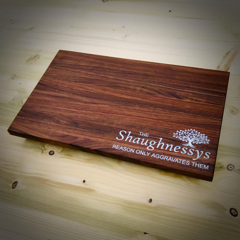 Personalised Walnut and Resin Chopping Board 377 x 233mm
