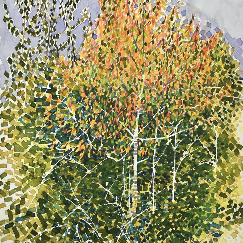 Autumn Cherry, Watercolour, 32x24cm £150