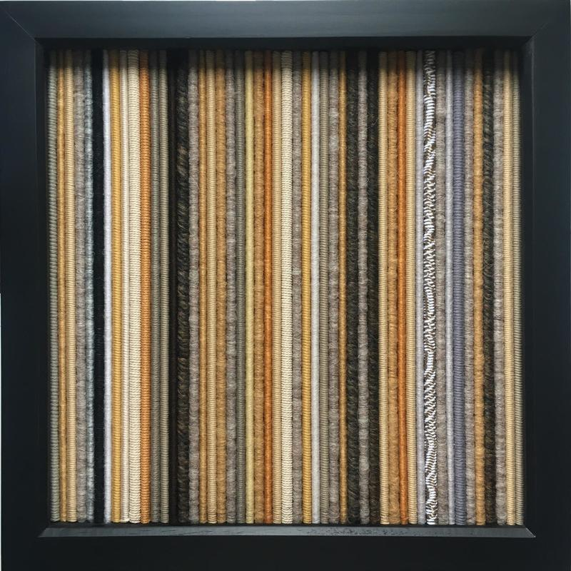 Hygge, 2021. Textiles. Framed. 32x32cm