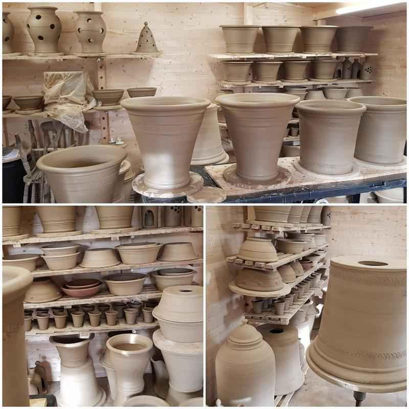 Drying the pots