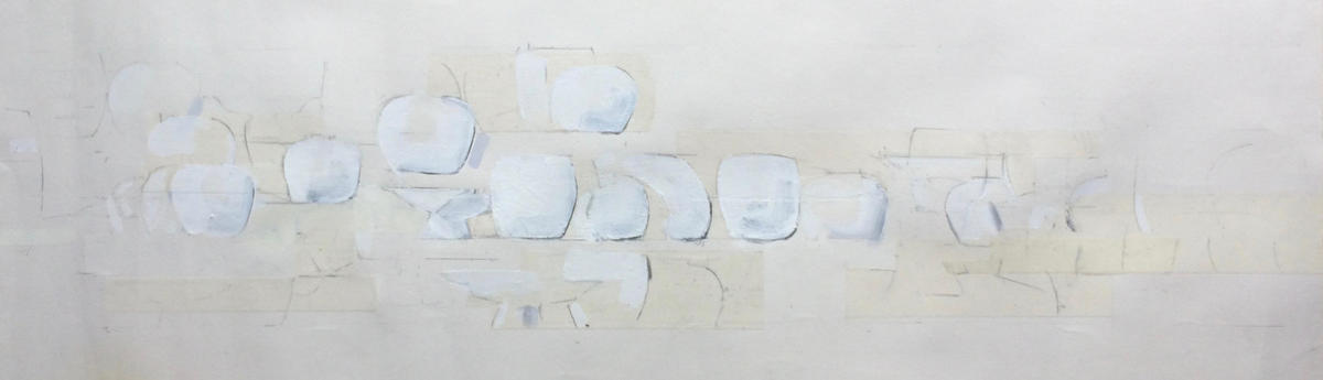 The Language of Contained - Pencil and Acrylic on paper - 90 x 25cm - £150