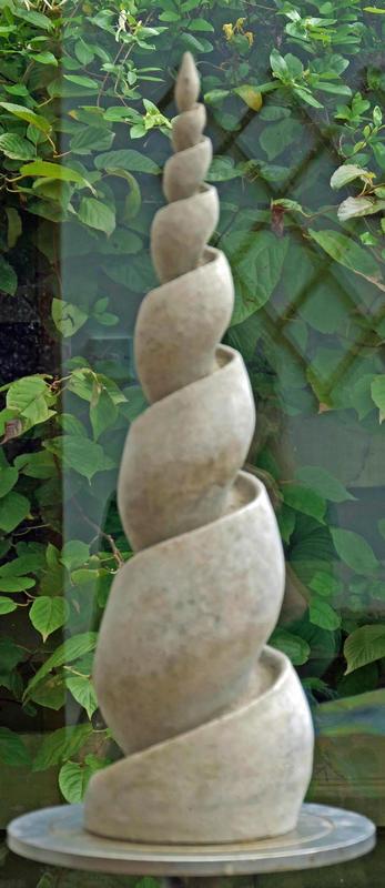 Ceramic spiral sculpture
