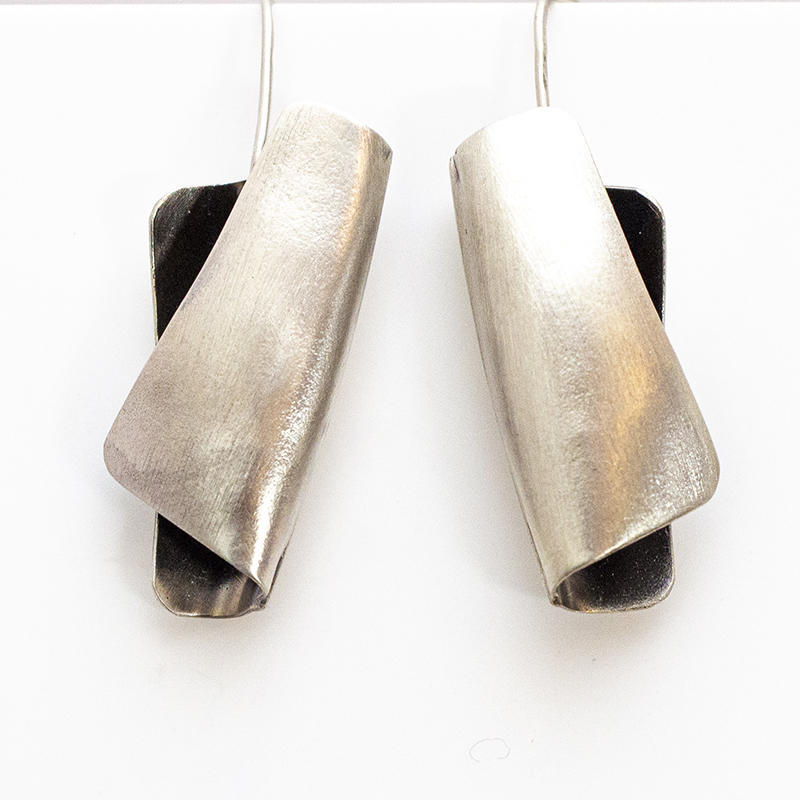 """Bauhaus"" drop earrings, £45."