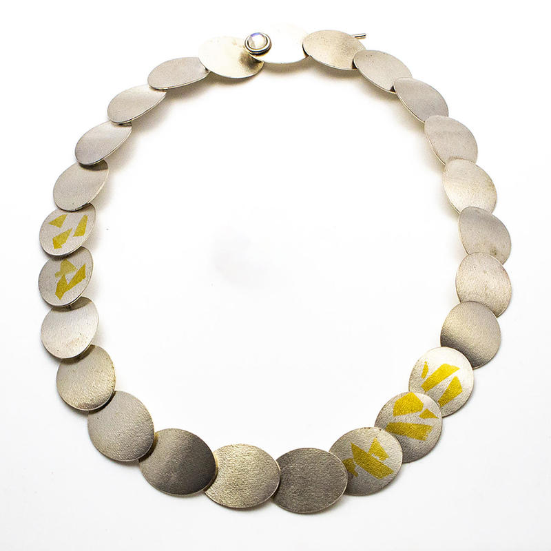 Running ovals necklace with Keum Boo, £350.00, 470mm