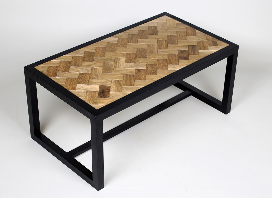 Low table in Oak and scorched oak