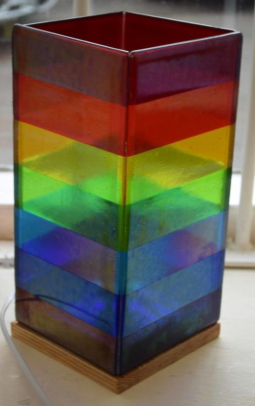 Fused Glass Stable Lamp