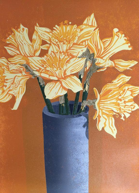 Daffs are Out 30 x 20 cms £90.00 unframed