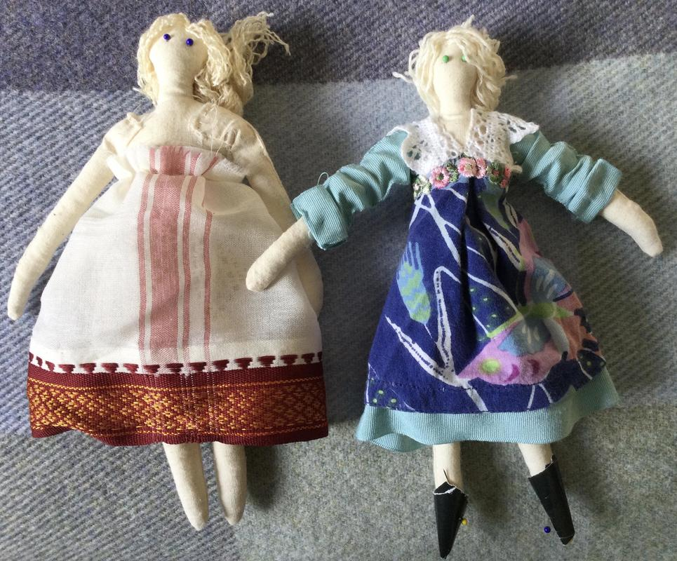 Two Dolls by Sue Hill
