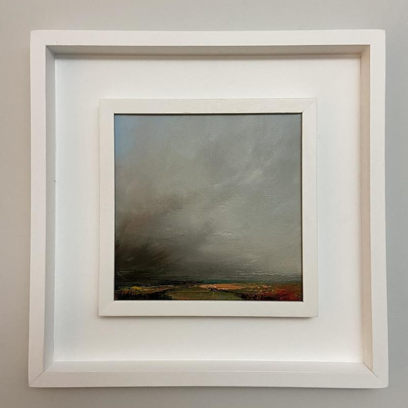 'Breath of the storm'. 20x20cm. oil on canvas. Framed. £375