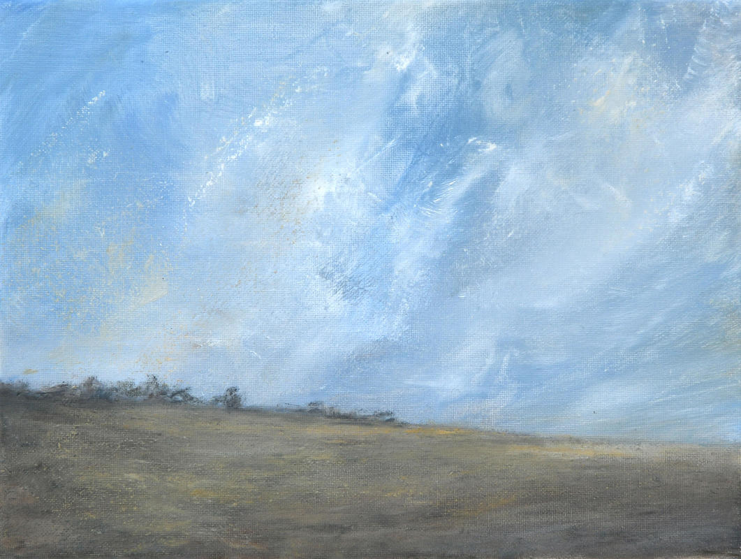 High skies of summer' oil on canvas 18x24cm  £130