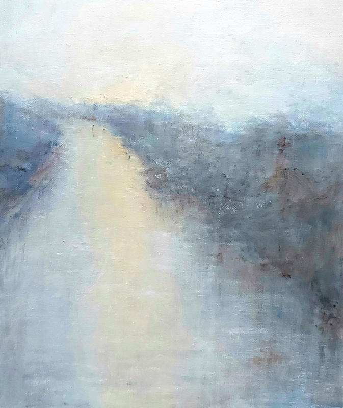 'Pathway of water' oil on canvas 24x30cm  £375 framed