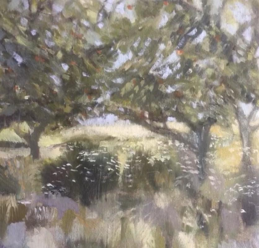 Summer Orchard - oil on canvas