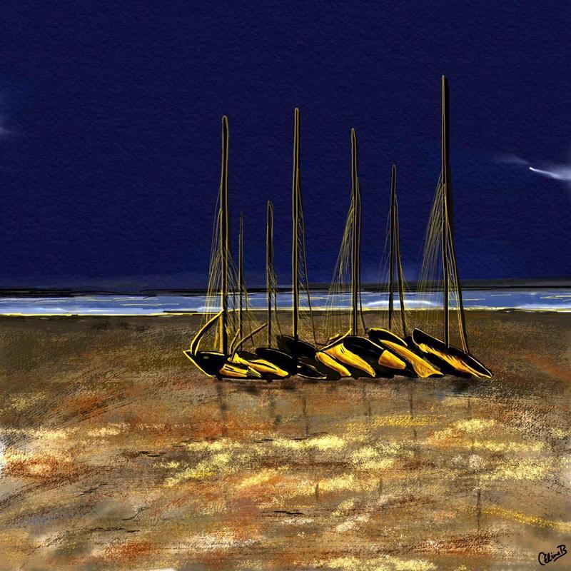 Damgan, Brittany. Digital art print. 20x20cm