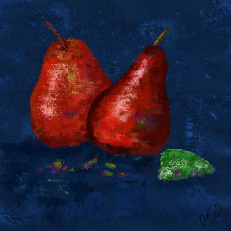 Pears. Digital art print. 20x20cm