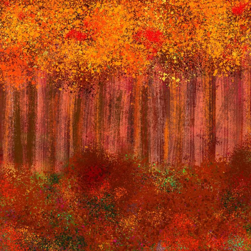 Auumn. Digital art print. 20x20cm