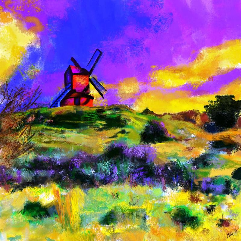 Brill's Windmill. Digital art print. Various options