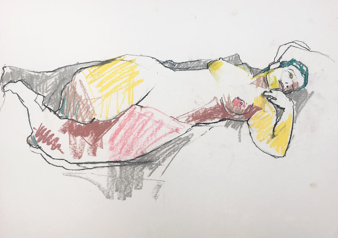 Reclining Woman, Study in Colour
