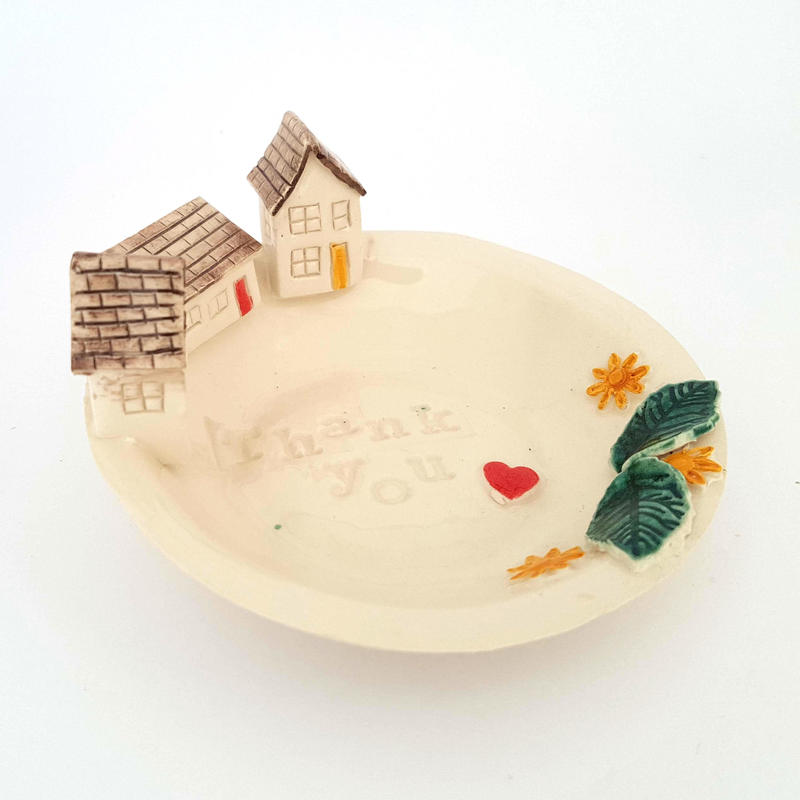 Home ring dish. Earthenware ceramic. £21