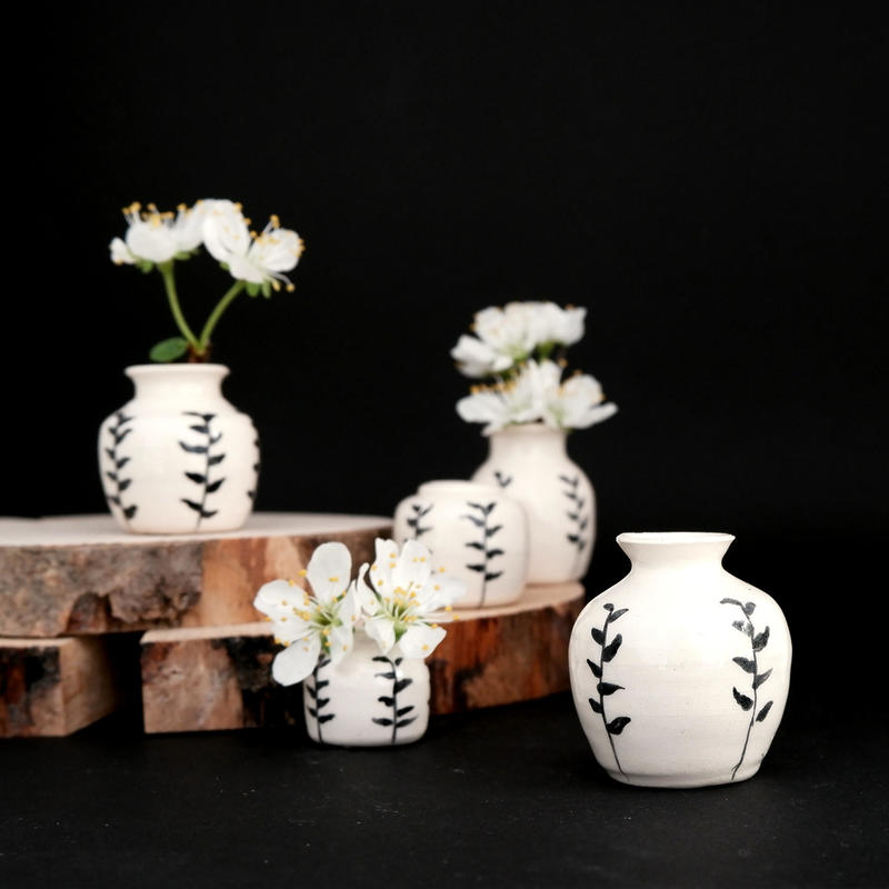 Tiny daisy vases, earthenware ceramic, £15 each