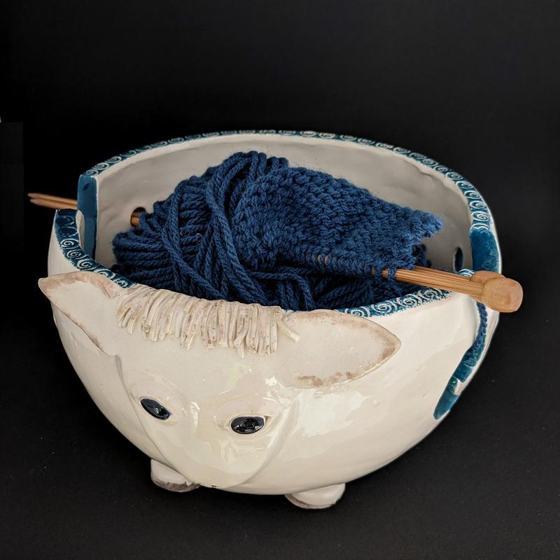Sheep Knitting Bowl. Earthenware ceramic. £49