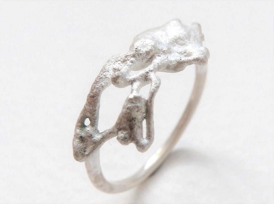 'Melt Me' ring, sterling silver, Chloe Romanos