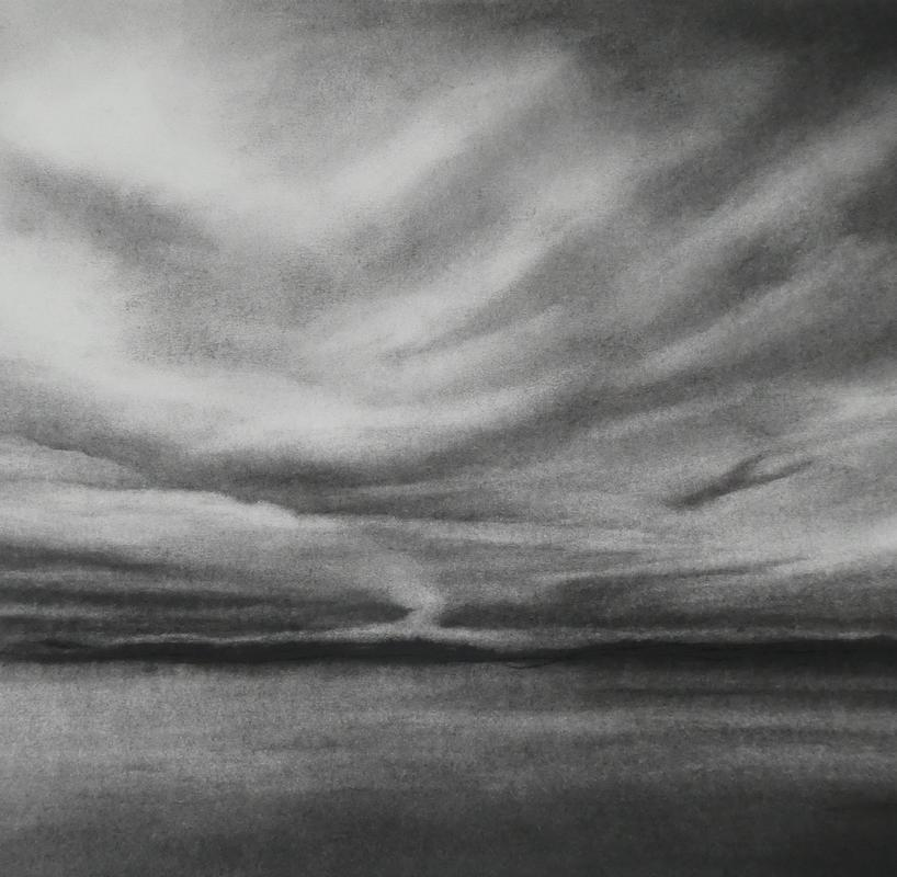 Sound of Arisaig from Glenuig (charcoal on paper)