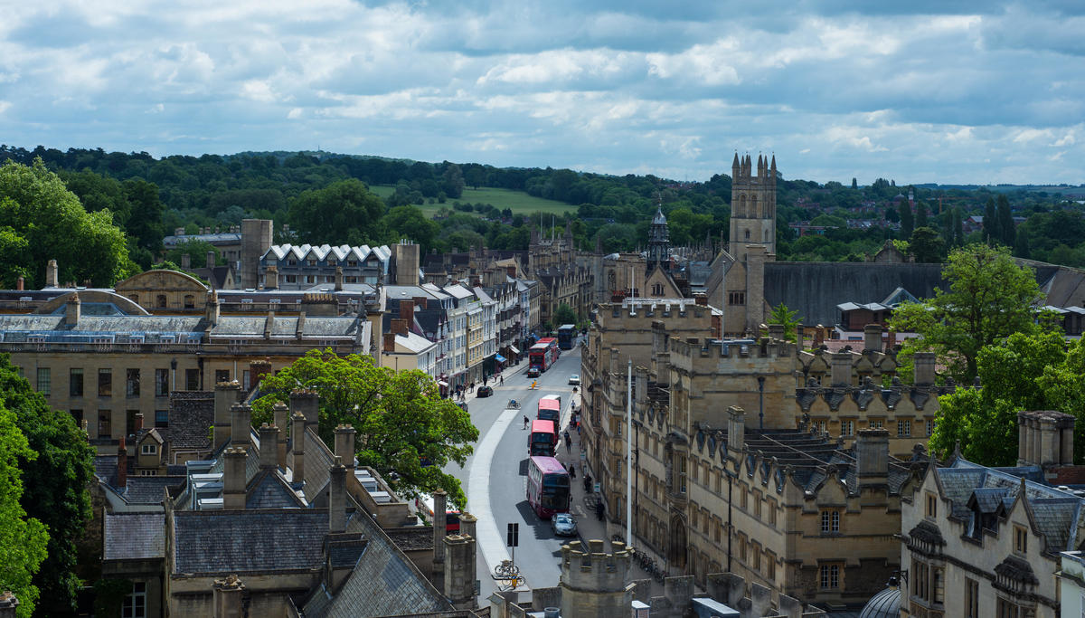 Oxford High Street from St Marys tower