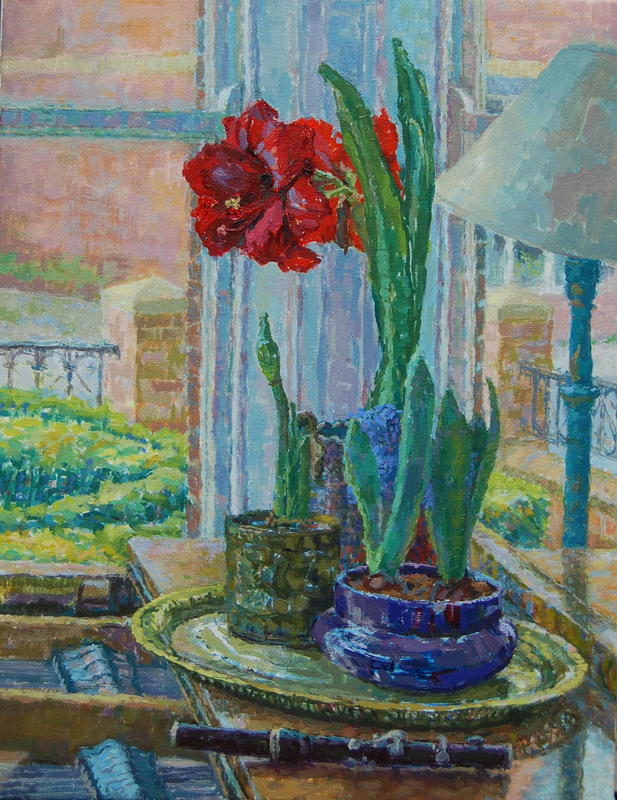 Amaryllis and Piccolo  oil on canvas  62 x 51 cm