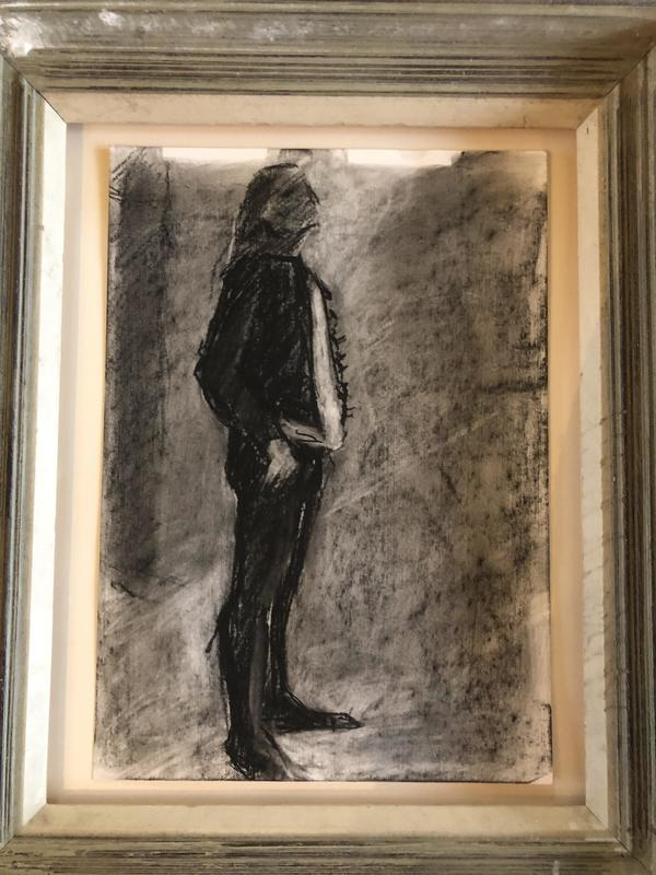Man Standing, charcoal, by Penny Merson