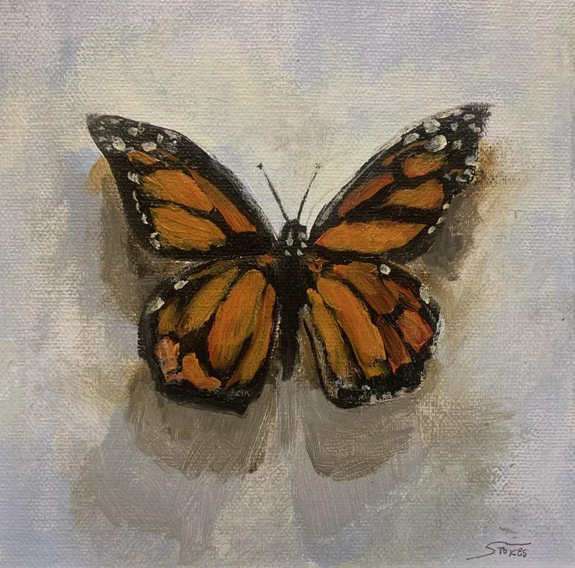 Butterfly III. Acrylic on stretched canvas