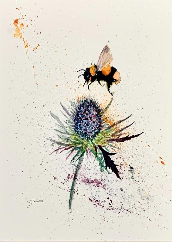 Thistle Do. Watercolour on 140lb NOT cold pressed paper.
