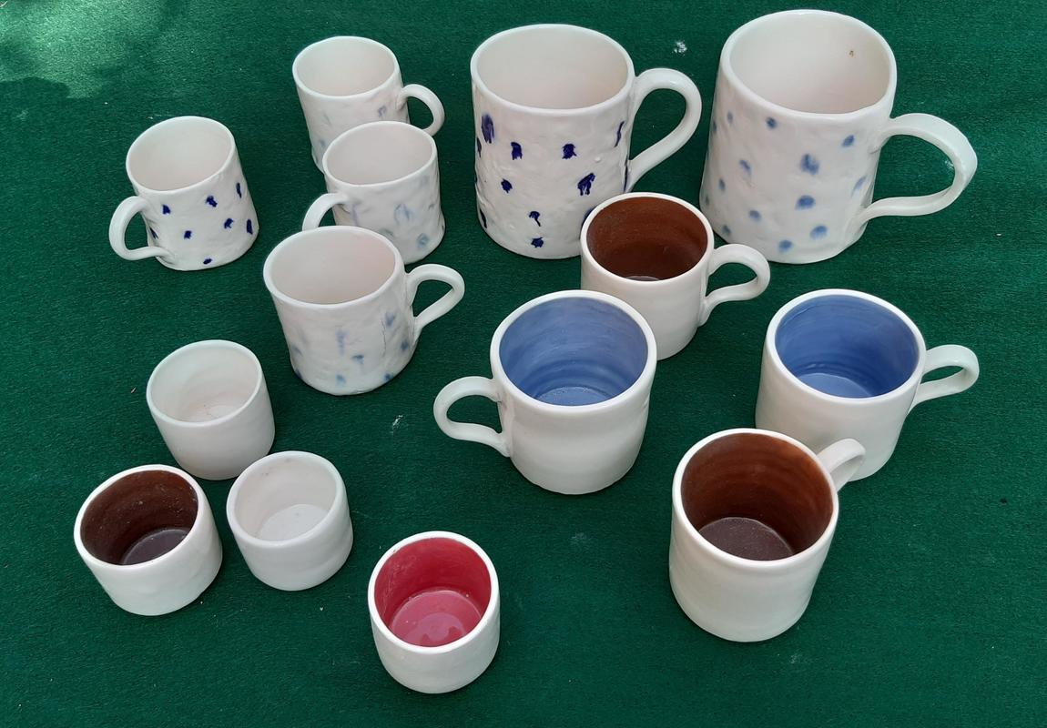 Cups and mugs, all sorts