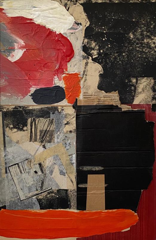 Paint palette - Collage mixed media
