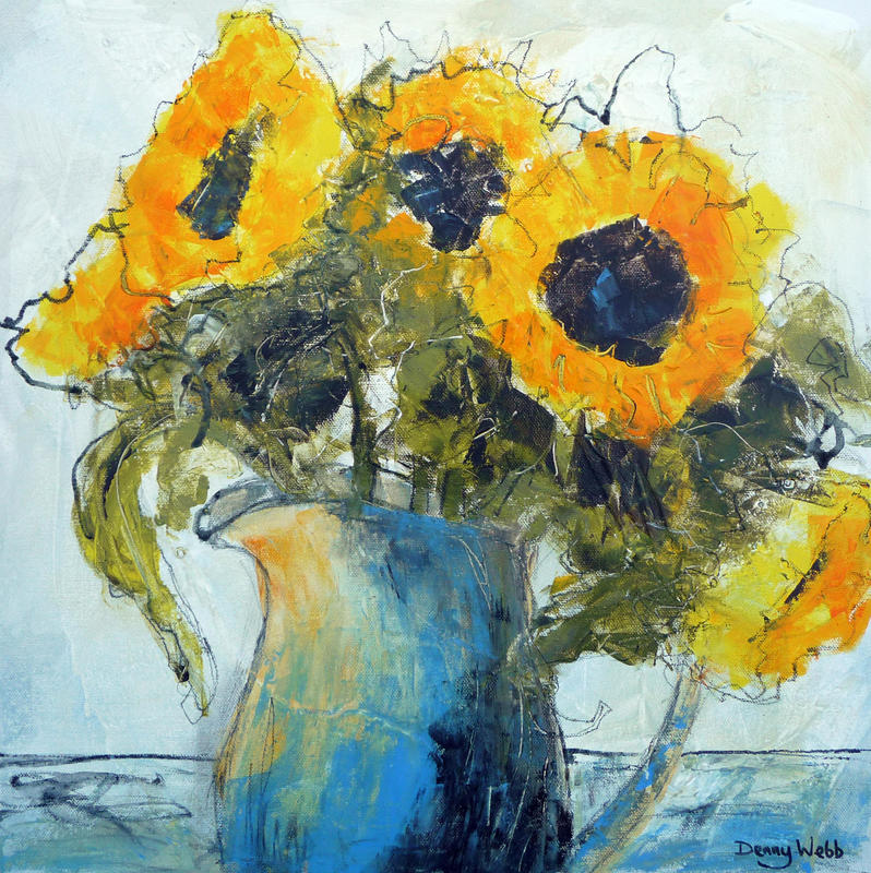 Sunshine in a Jug, acrylic on box canvas 40 x 40cms...£345