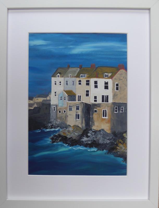St Ives, Sea View. Acrylic on canvas. Framed. 30cm x 40cm