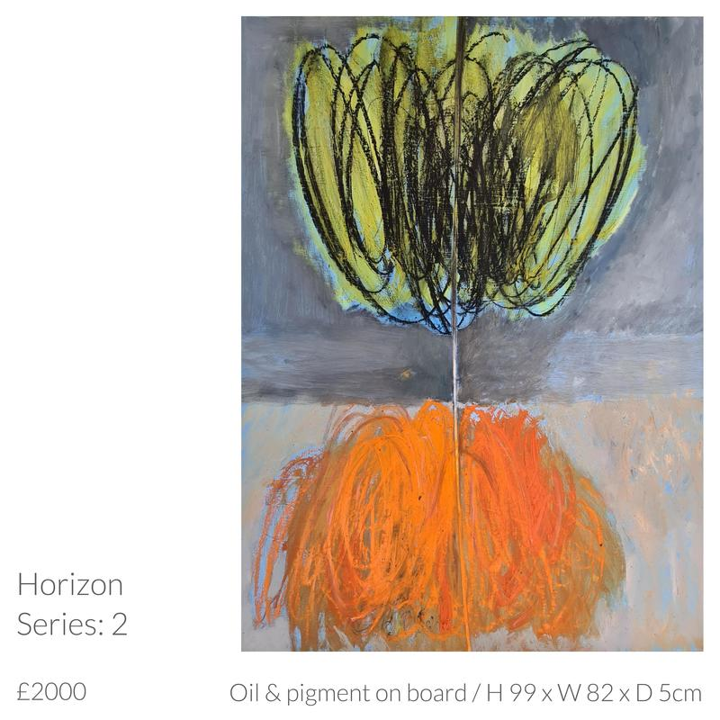 Oil painting by Emma Souter 'Horizon 2'