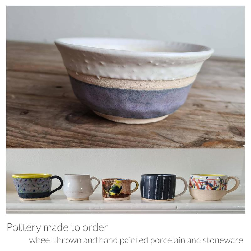 Stoneware and porcelain pottery made to order