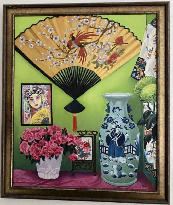 Chinoiserie, oil