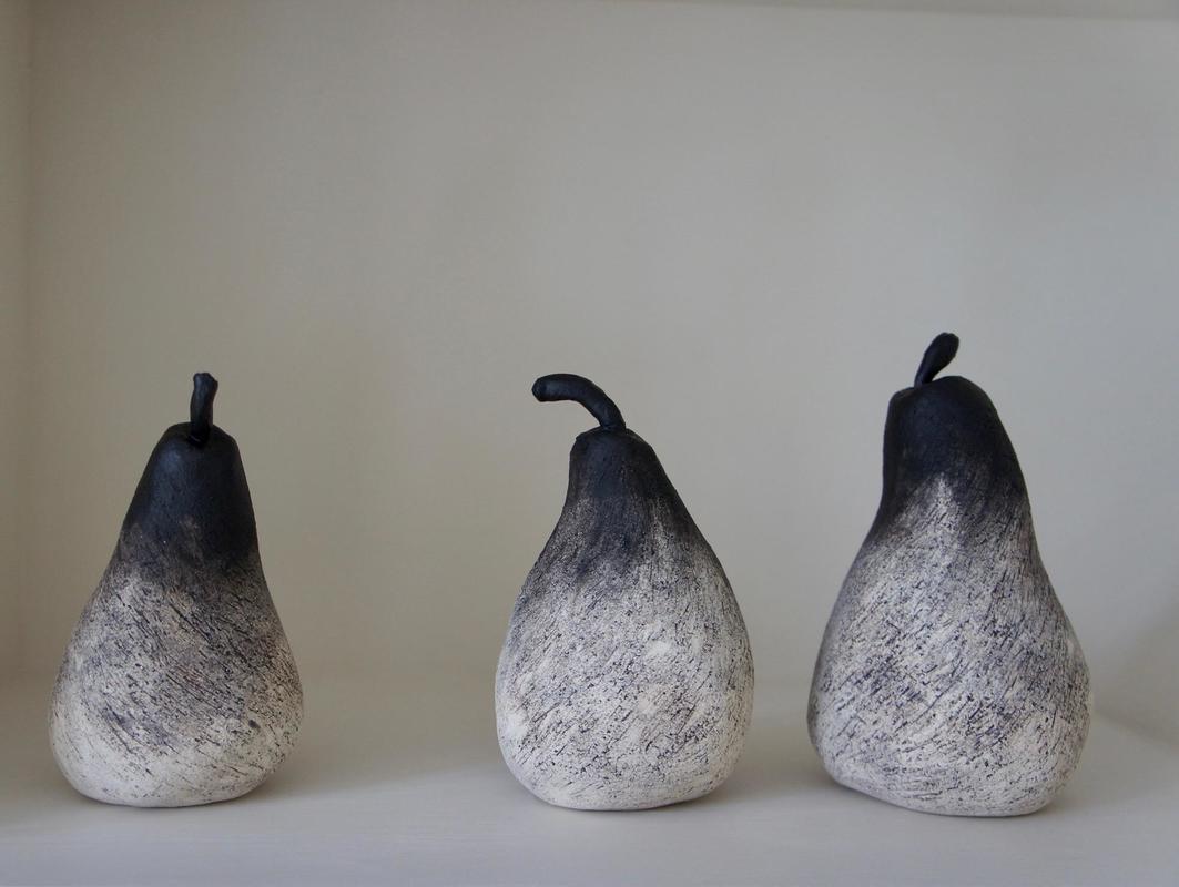 Decorative stoneware pears
