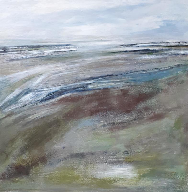 Monmouth Beach, Lyme Regis, acrylic on box canvas, 50 x 50cms  £85