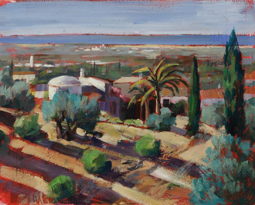 Francesca Shakespeare View to the sea, Portugal (4868) 28x38cm oil on archival paper