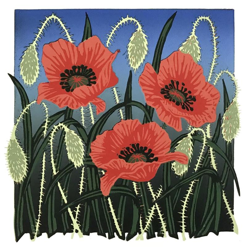 Tall Poppies, Linocut £35