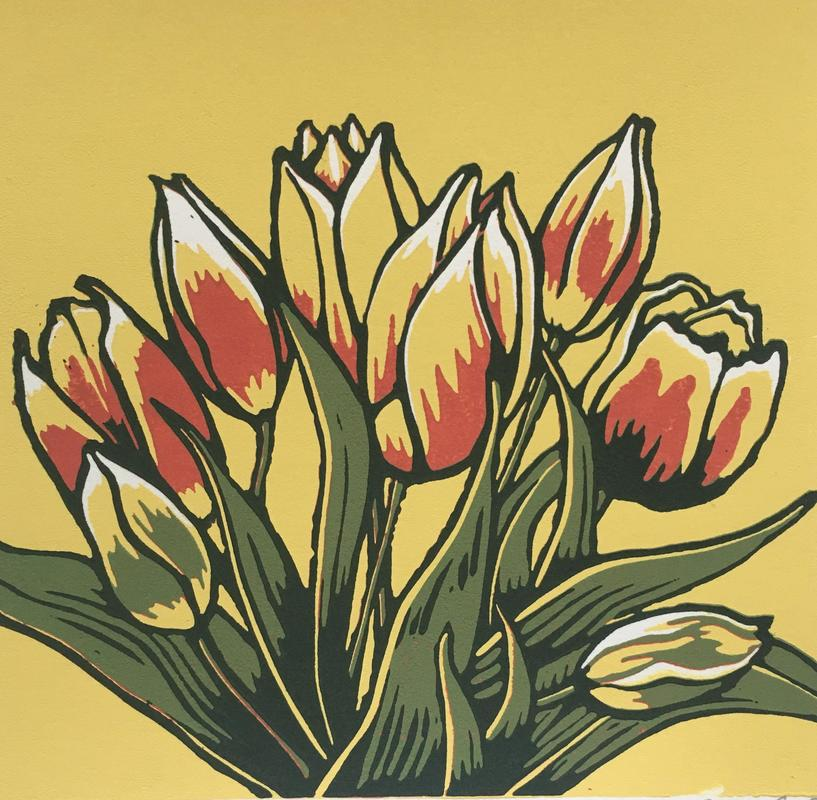 Colours of spring, Linocut £30