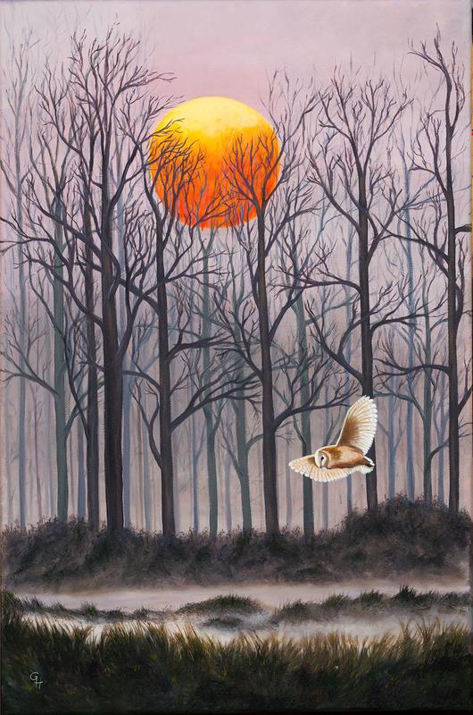 Sunset Hunter, oil on canvas, 40x60cms, £200