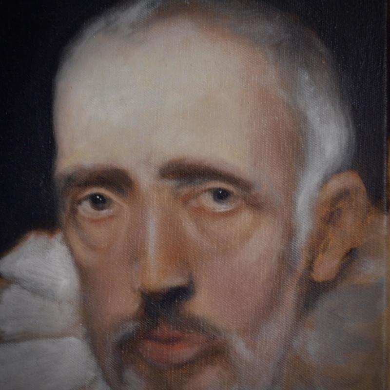 Facial Study oil on canvas