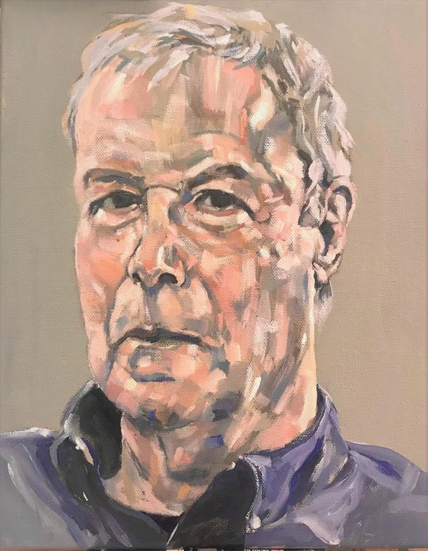 Portrait of Patrick Russell - oil on canvas 40 x 30m