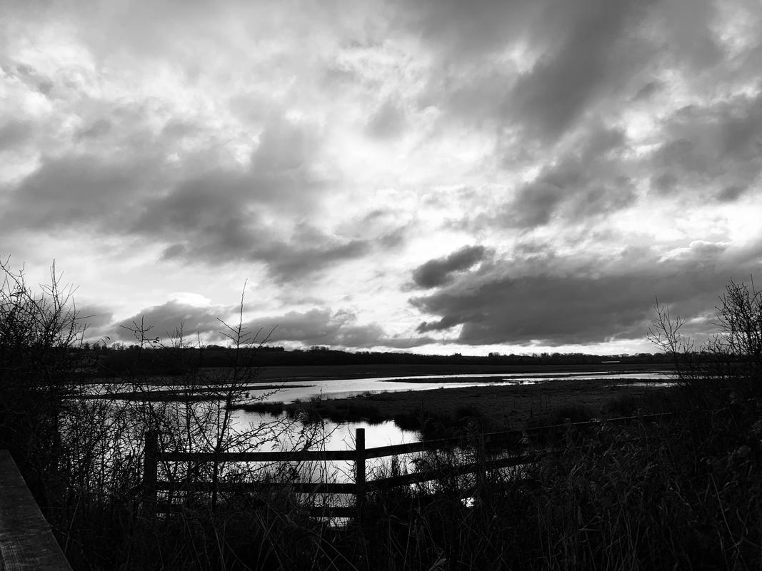 Ottmoor landscape, Black and White photograph